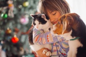 Mačka Mici in kuža Puppy